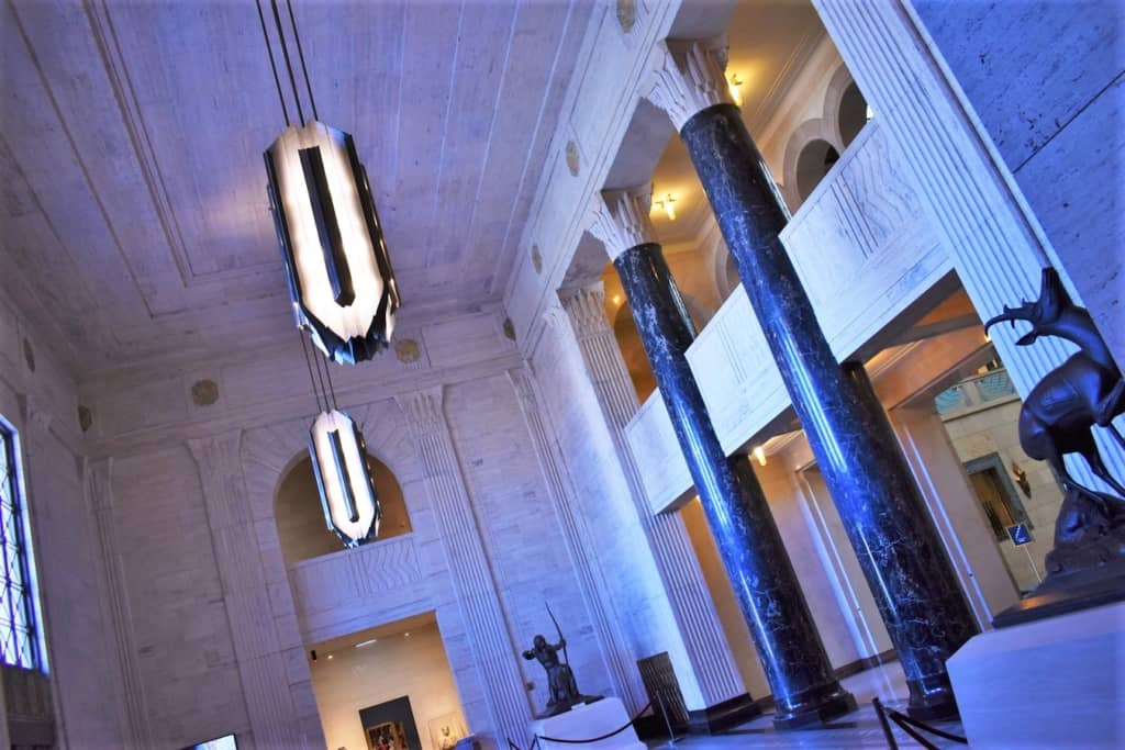 The art deco styling of the Joslyn Art Museum is a wonder to behold.