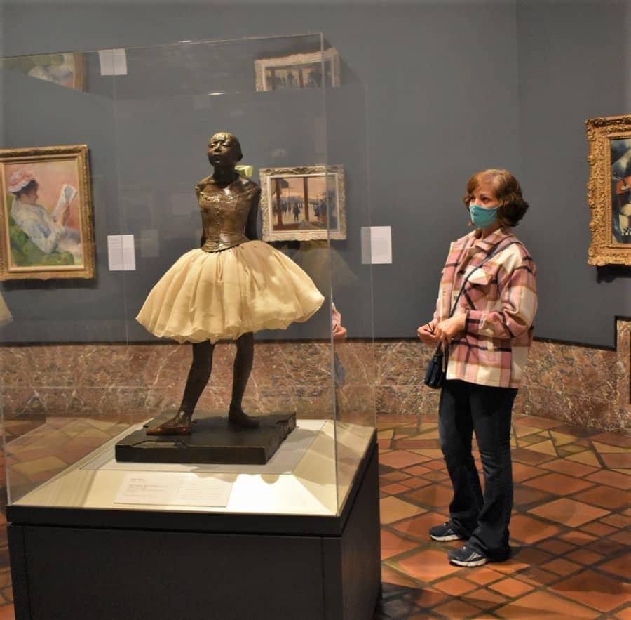 Crystal enjoys an artistic piece that includes a nod to fashion.