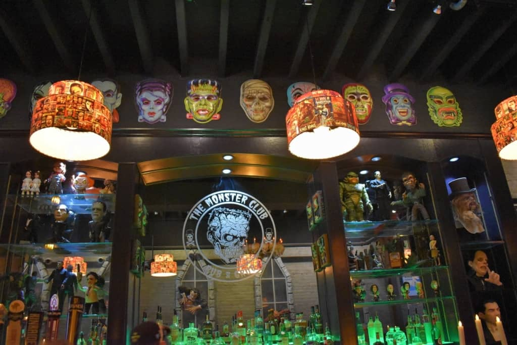 You will find plenty of familiar characters from the silver screen at The monster Club.
