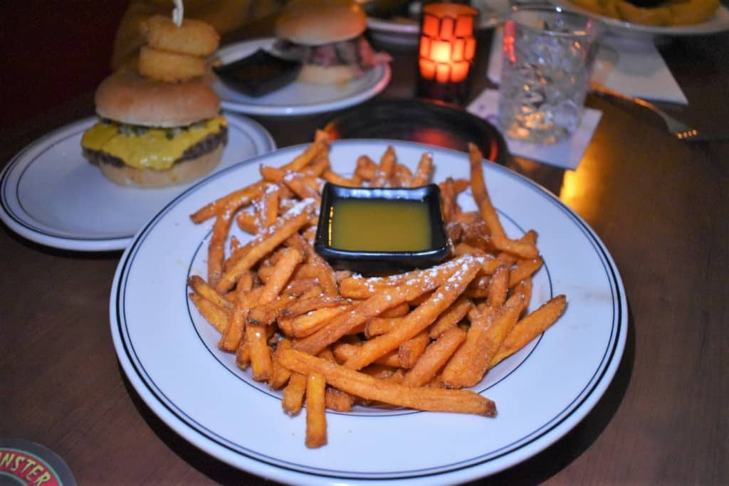 A plate of sweet potato fries offer a sweet treat for diners.