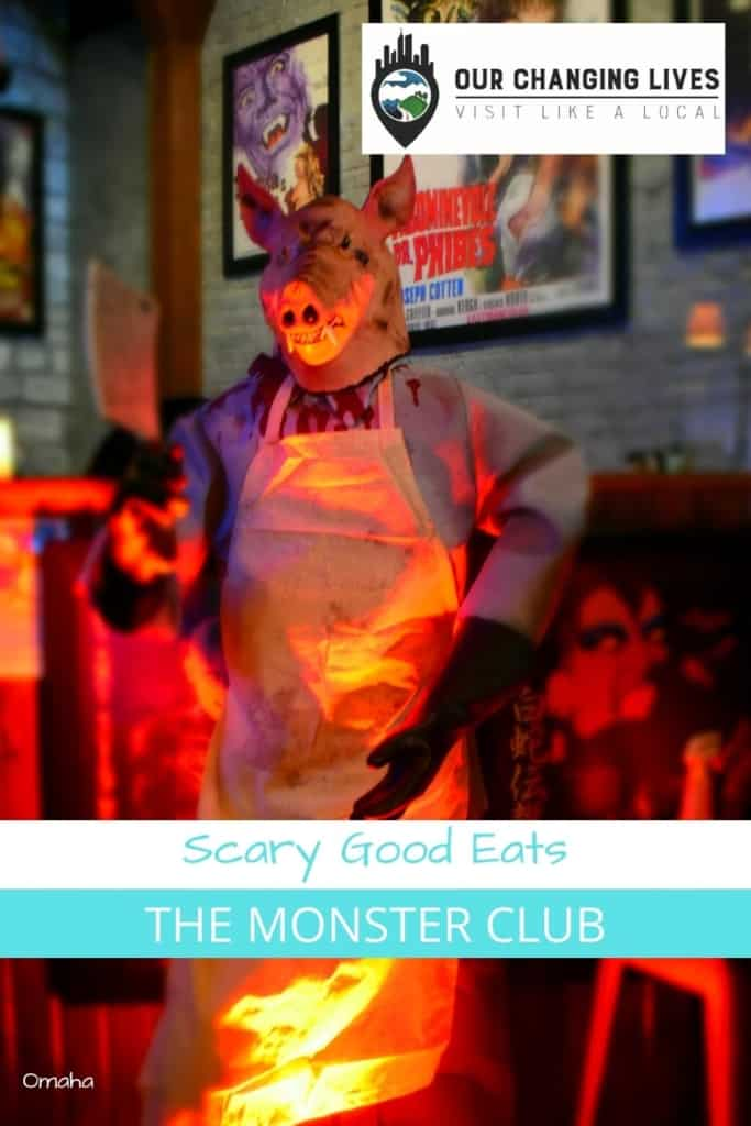 Scary good eats-The Monster Club-Omaha Nebraska-barbecue-horror movies-thrillers-themed restaurant