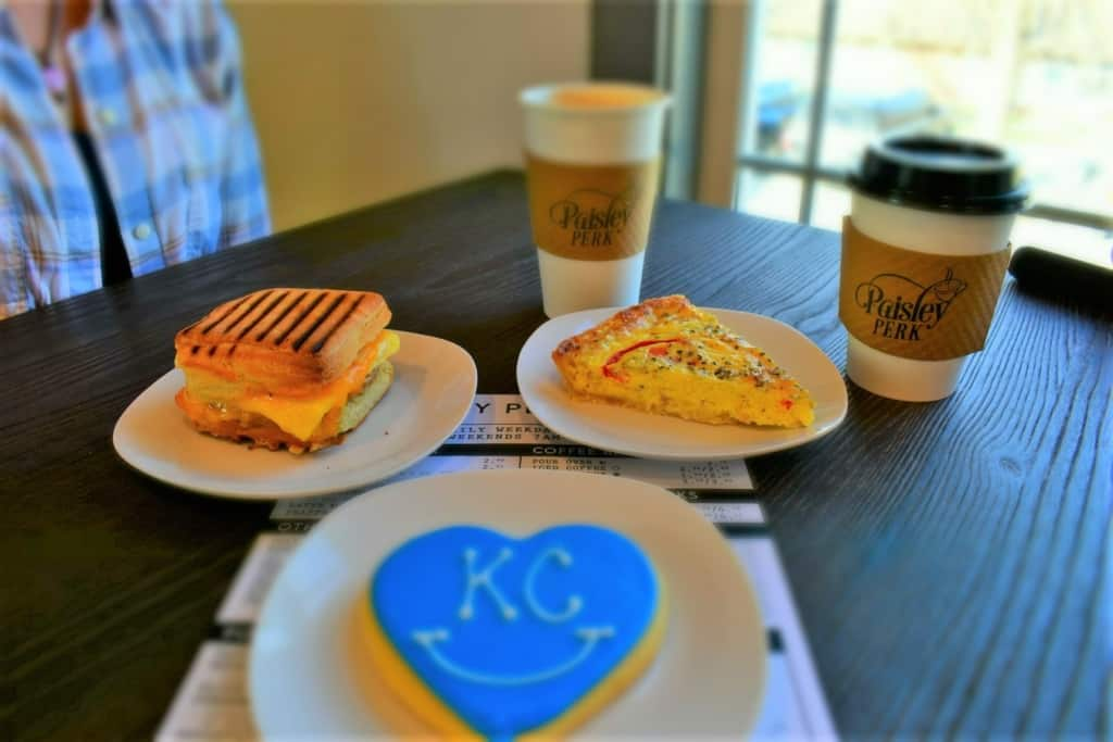 A table full of goodies are about to be devoured during our Kearney coffee break.