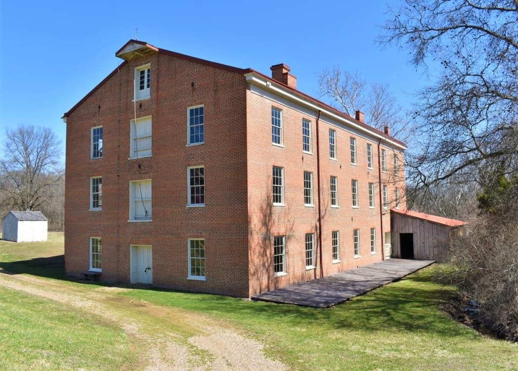 The three-story woolen mill has a sizeable footprint and is still in remarkably good condition.