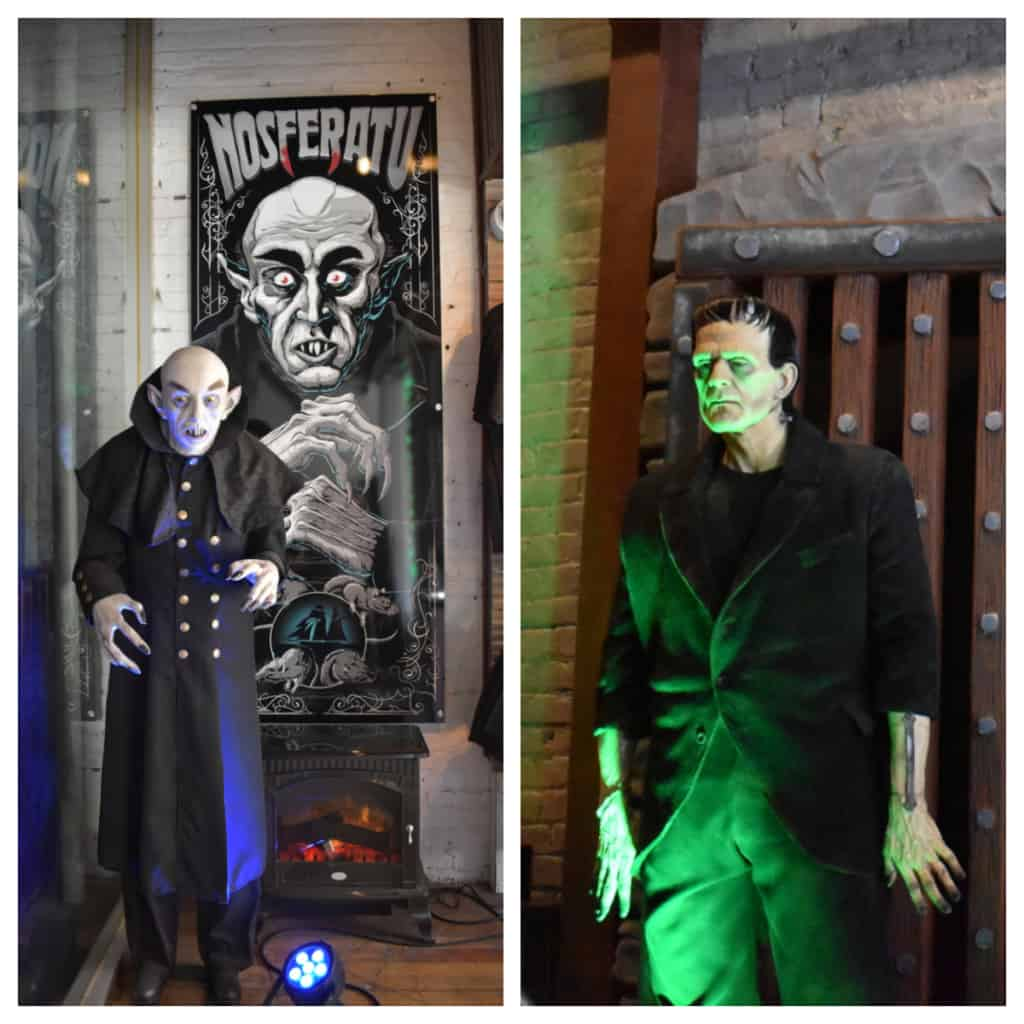 A couple of familiar characters greet diners who visit The Monster Club for some scary good eats.