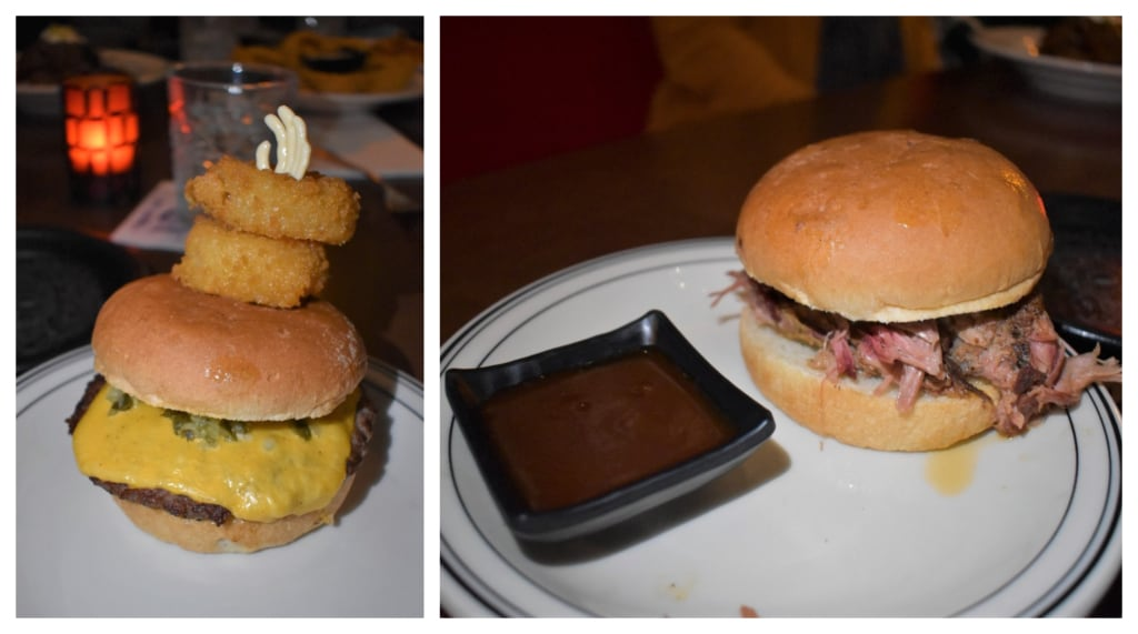 Handheld sandwiches are a popular choice for dinner or lunch at The Monster Club.