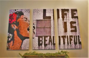 As the sign says, Life is Beautiful when you are enjoying small town tastes.