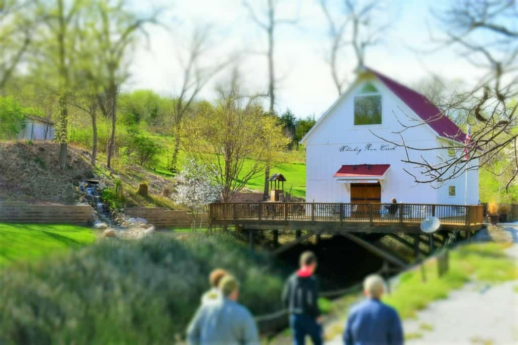 The exterior of Whiskey Run Winery is a picture perfect setting.