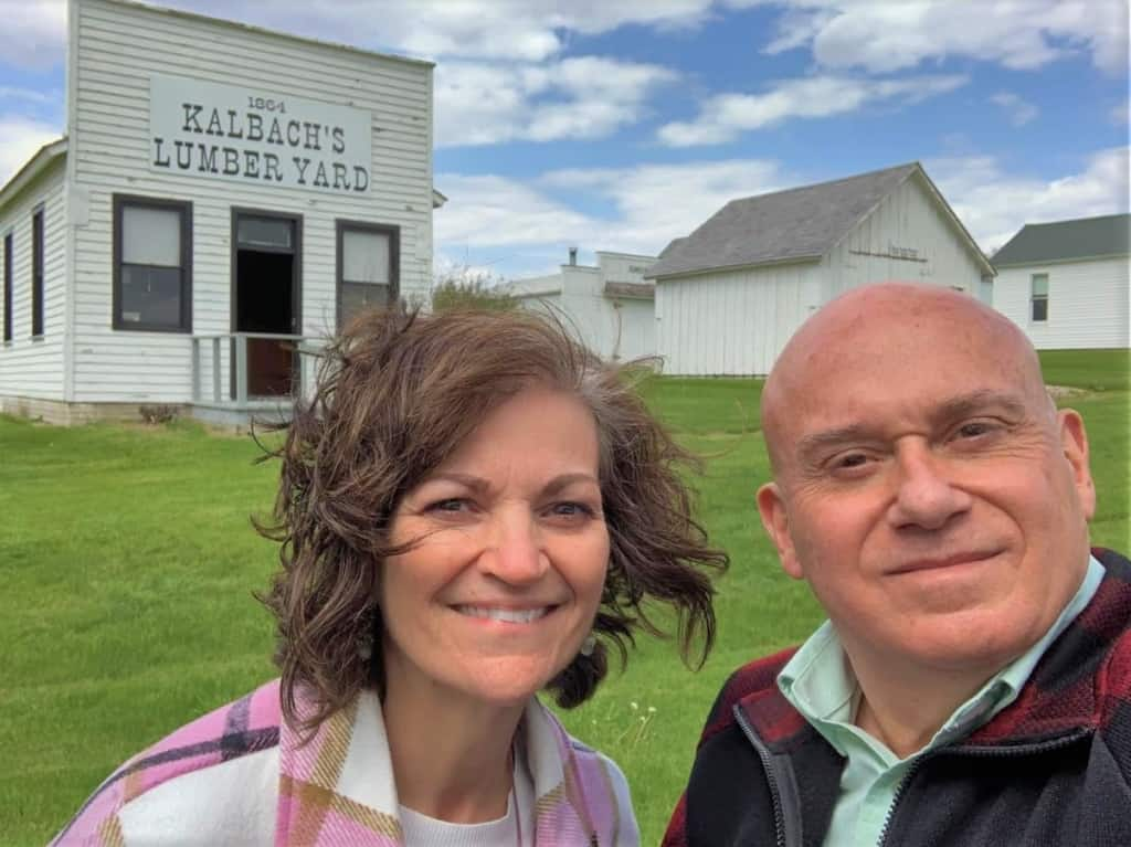 The authors enjoyed learning about life in the heartland at Nelson Pioneer Farm.