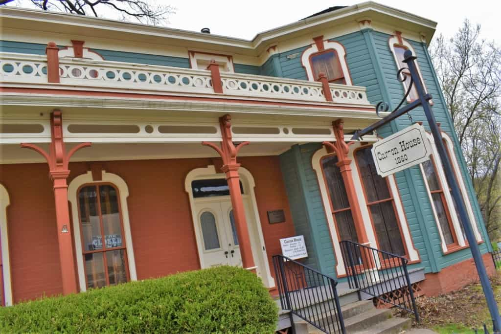 The Carson House is one of the multiple historic sites that visitors can tour during a visit to Brownville, Nebraska.
