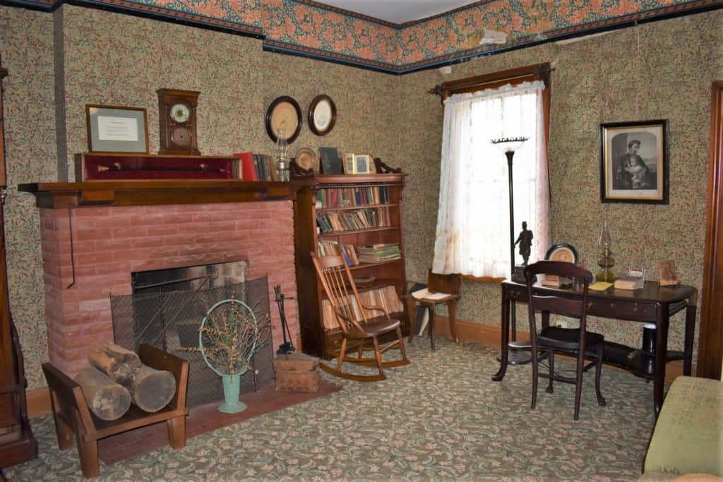 Although it is only filled with silenced footsteps these days, in the 1800s the family would have made use of this study.