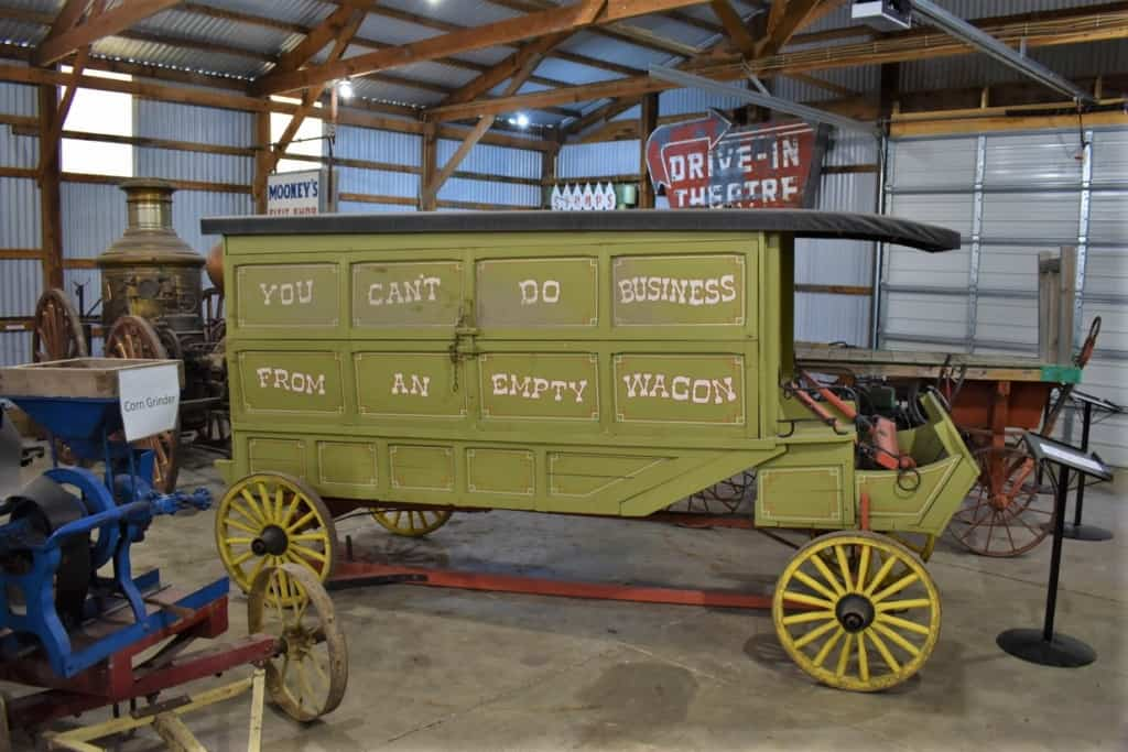 A salesman's wagon is bedecked with a logo sure to catch the eye.
