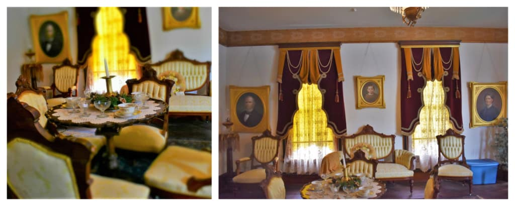 The luxurious parlor would have been used to host a variety of social events.