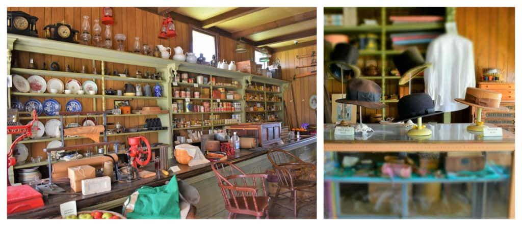 An old general store would have served as an impromptu meeting place for people shopping in town.