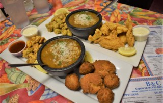 The food at B&C Seafood Restaurant represents the tastes of the land and sea.