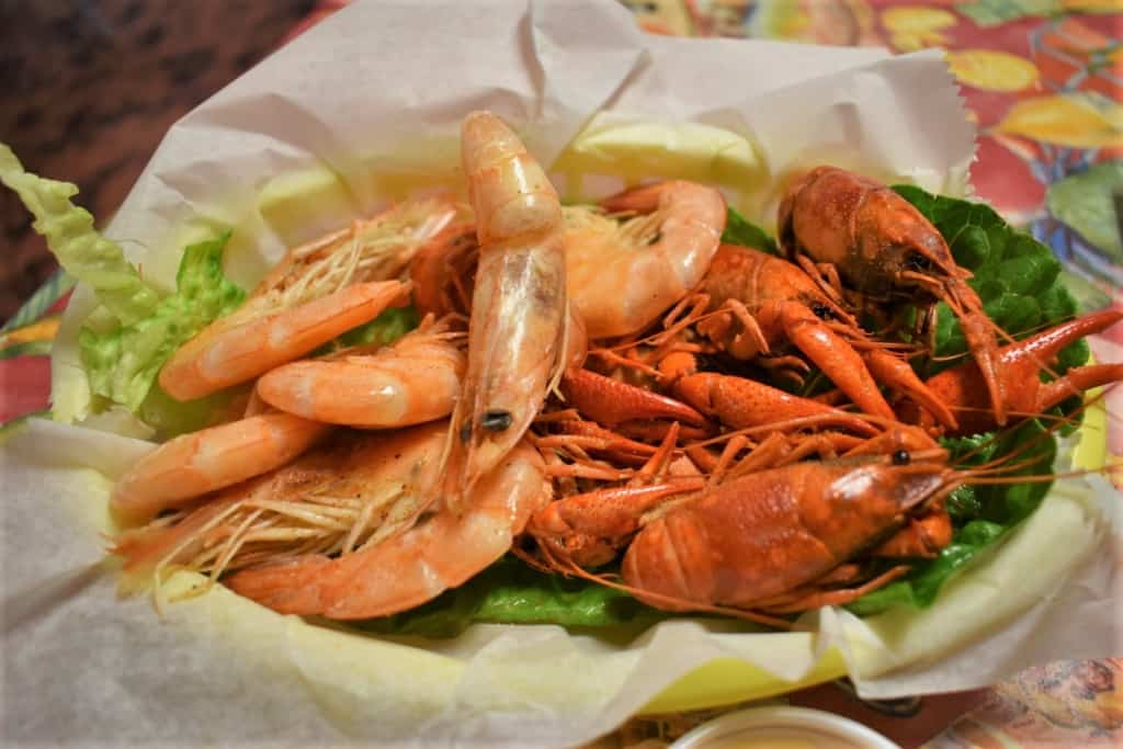 Shrimp and crawdads are finger foods that you will find frequently in the River Parishes of Louisiana.