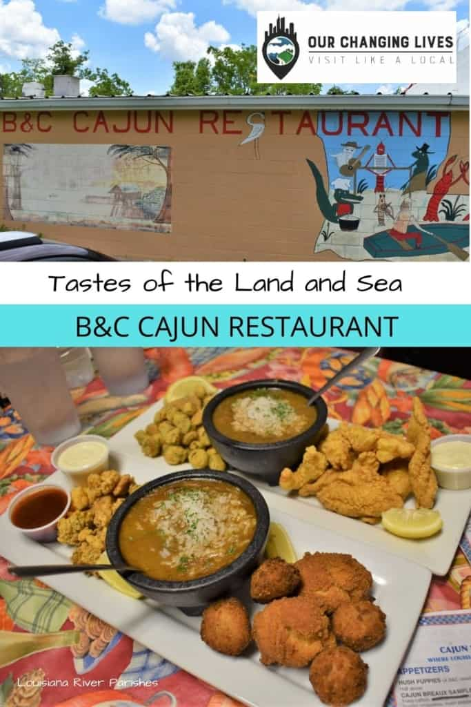 Tastes of the Land and sea-B&C Seafood Restaurant-gumbo-seafood-river parishes