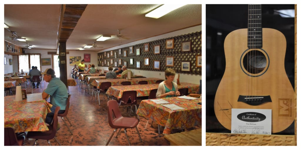 The interior of B&C Seafood Restaurant may be recognizable from a Tim McGraw video.