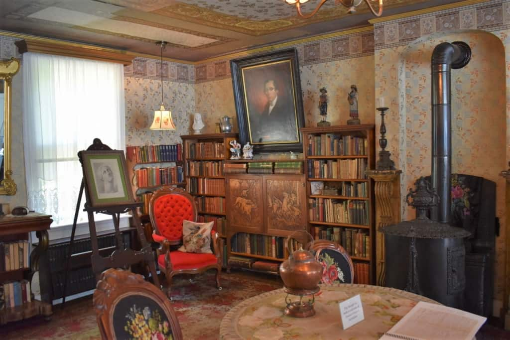 The library is the room most unchanged from the early days of the Scholte family.