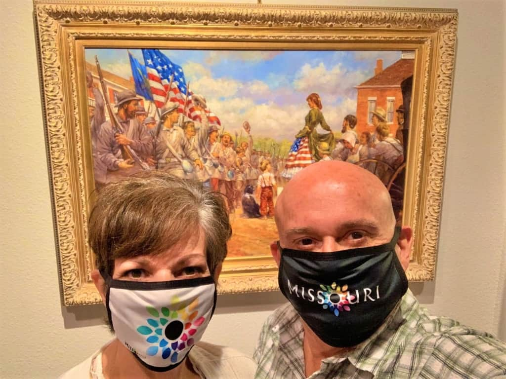 The authors posed for a selfie after a visit to the Battle of Carthage Museum.