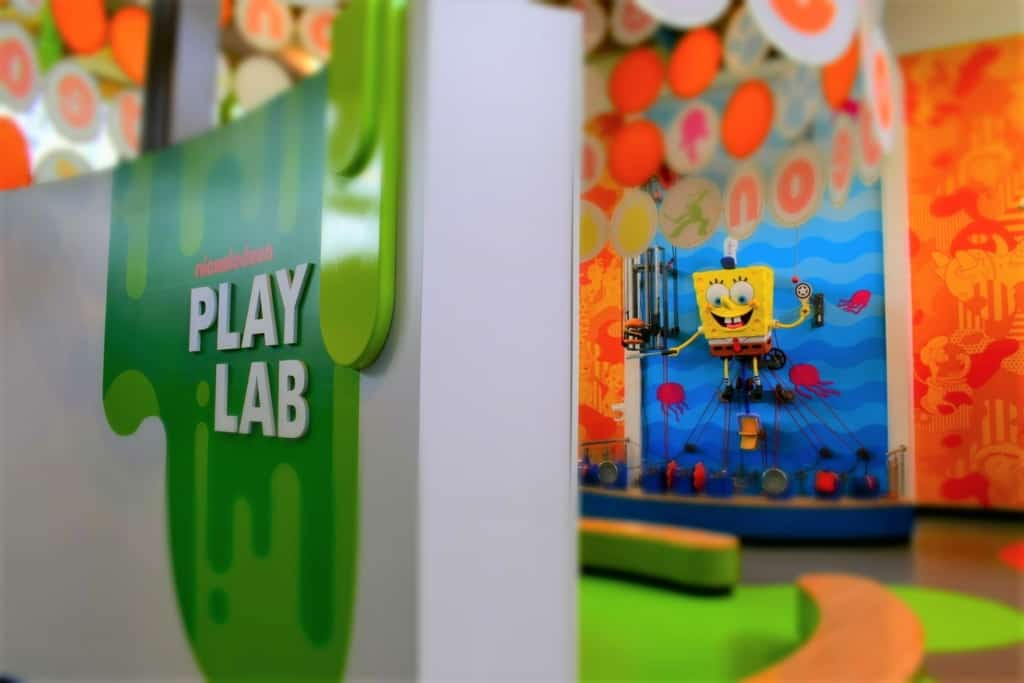 The Nickelodeon Play Lab is a great place for being childish on a whole new level.