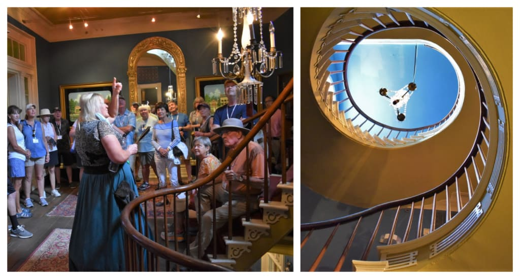 The staircase is familiar to those who watch classic movies.