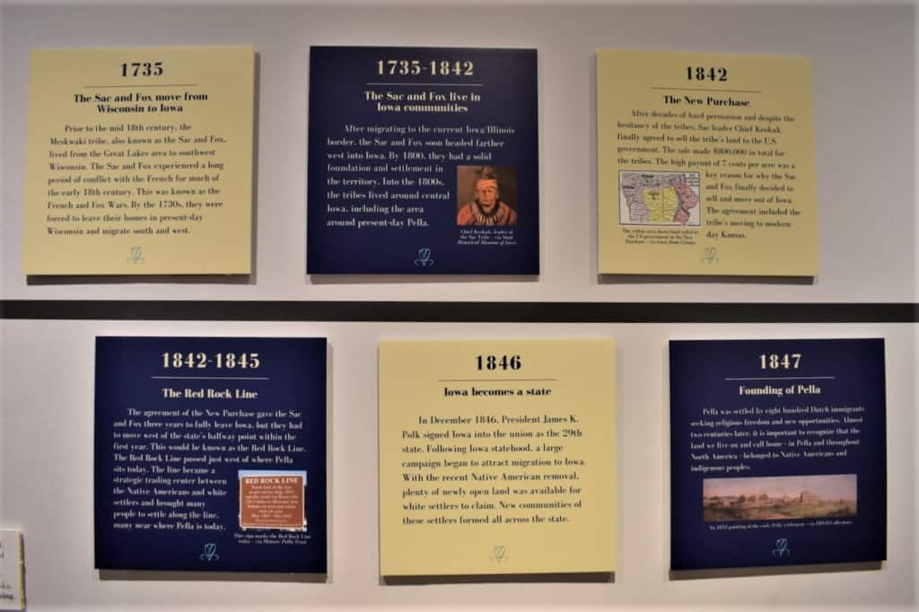 Visitors can learn the history of Iowa at the Pella History Village.
