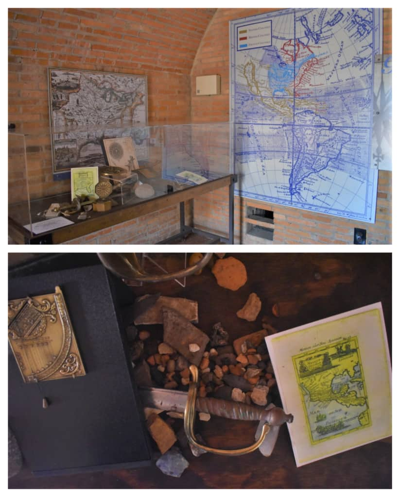 Maps and artifacts help tell the story of the changing hands that laid claim to Fort Conde in Mobile, Alabama.