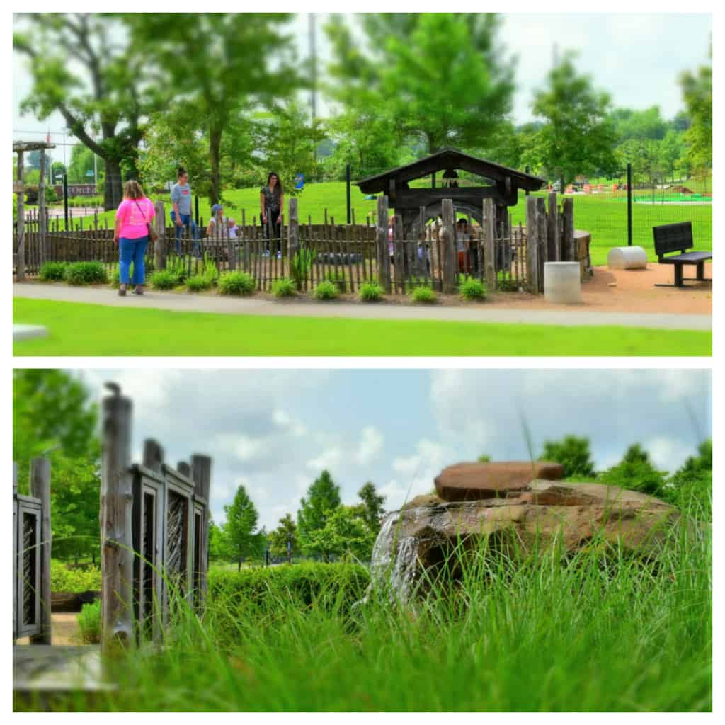 The outdoor setting is perfect for letting kids of all ages use up some pent up energy.