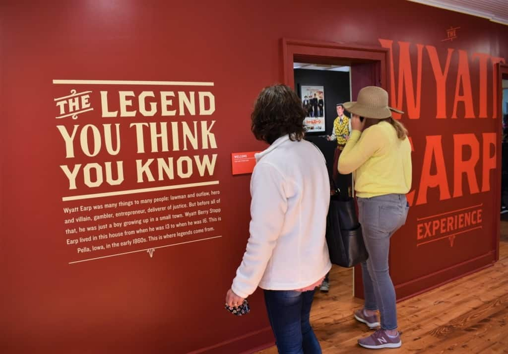 An audio device helps visitors listen to stories about Wyatt Earp.