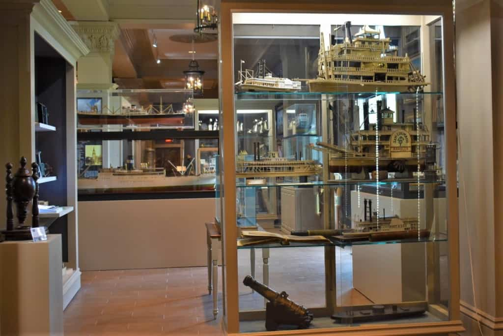 The exhibits at the Great River Road Steamboat Museum include models of some of the steamboats that would be found navigating the Mighty Mississippi.