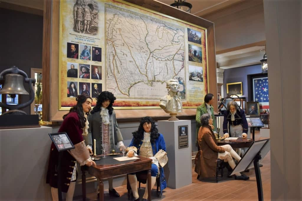 An exhibit about the Louisiana Purchase explains this important event.