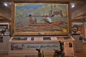 Navigating the Mighty Mississippi is the subject of the steamboat museum at Houmas House.