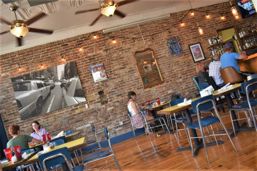 The interior of Sarah's on the Hill reflects their simplistic approach to making perfect pizza pies.