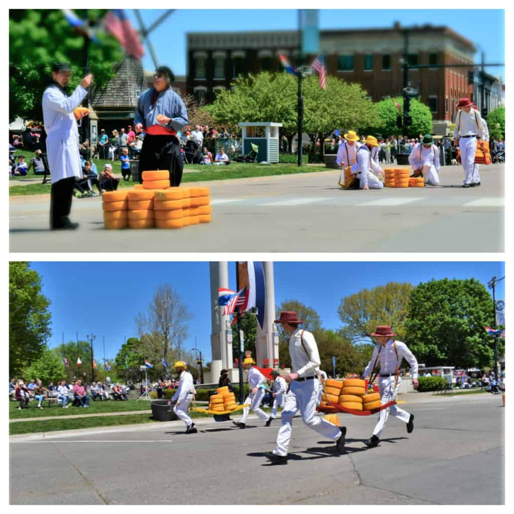 Reenacting the Dutch cheese market is one way they keep traditions going in Pella.