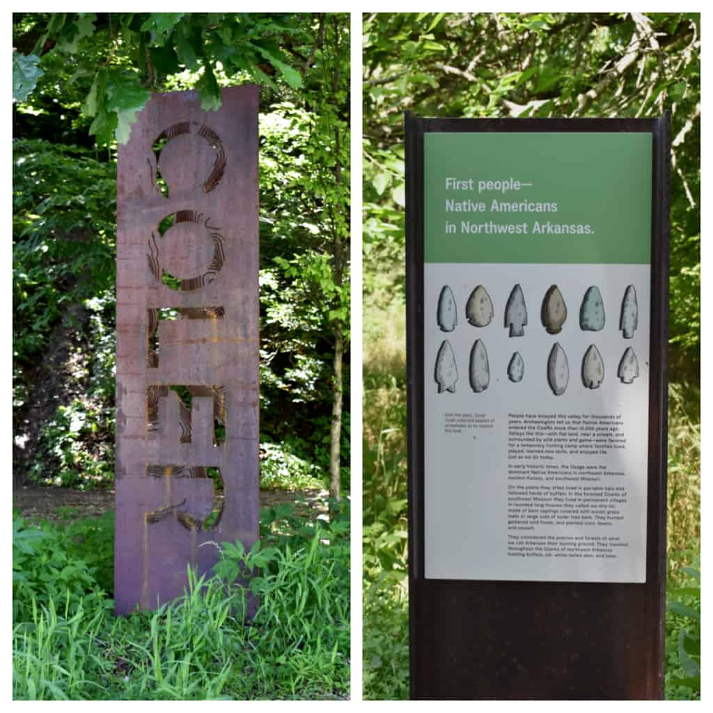 Signage helps keep visitors informed and entertained ruing a nature break at Coler Mountain.