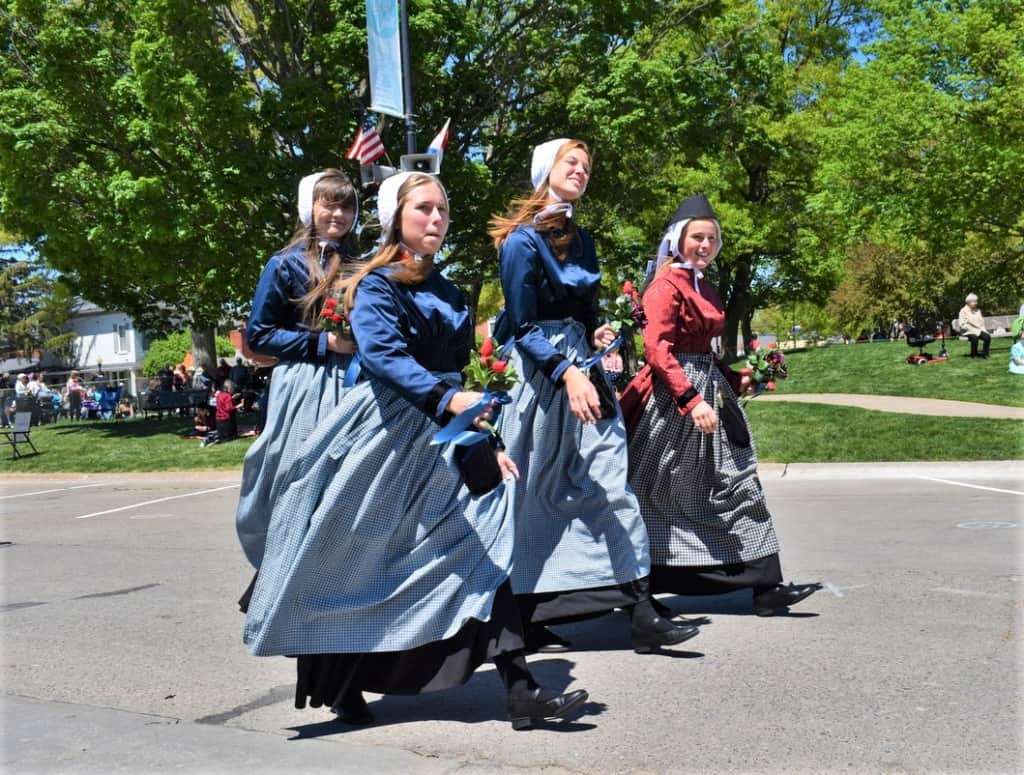 Pella locals show off the traditional outfits from the motherland of the Netherlands.