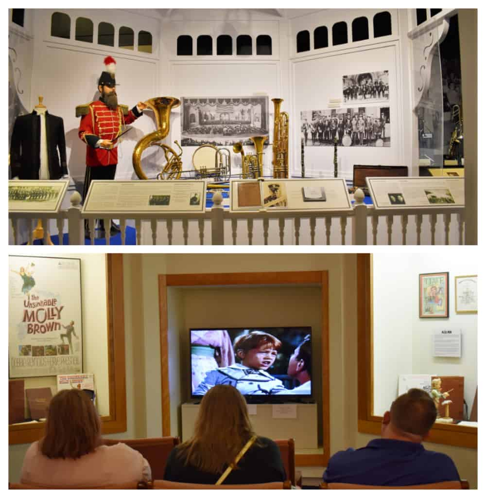 Visitors can learn more about the early days of marching bands and watch a film about The Music Man.
