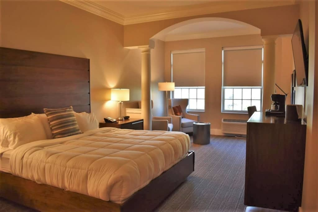 The luxurious room at the Amsterdam Hotel awaits visitors to Pella.