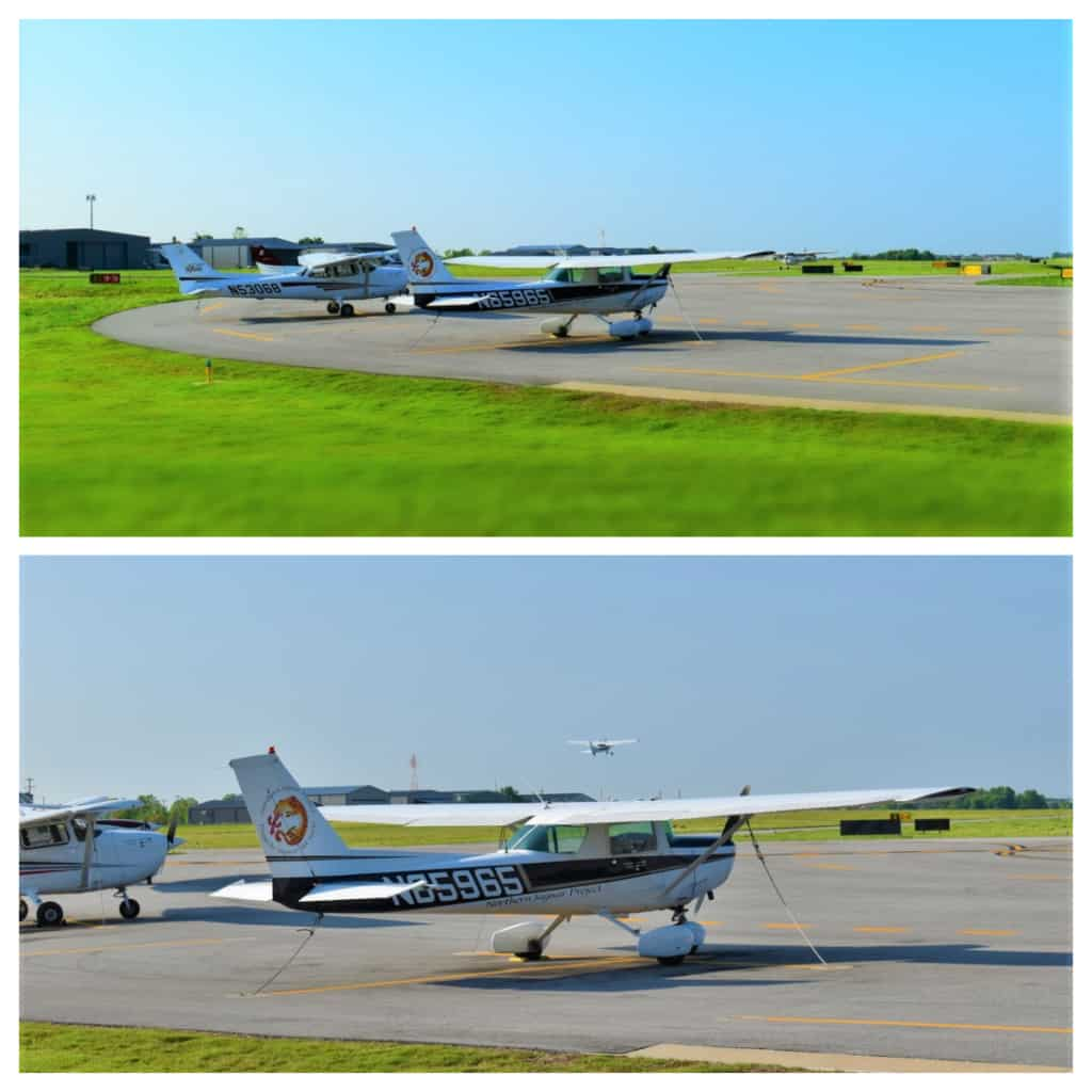 Watching the activity in the hangar and runway make breakfast a meal with airborne inspiration.