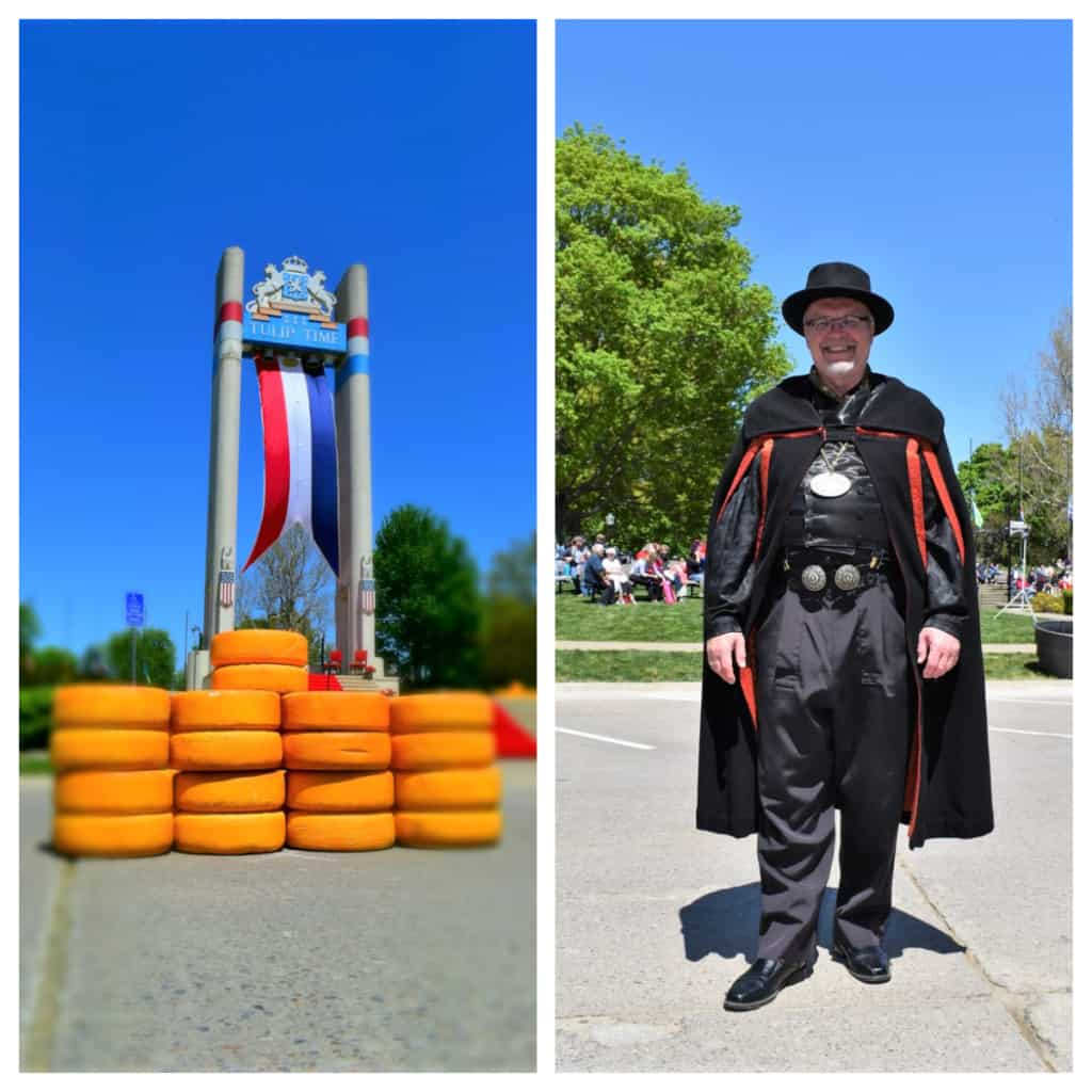Bright colors and costumed characters are sure to be found during Tulip Time.