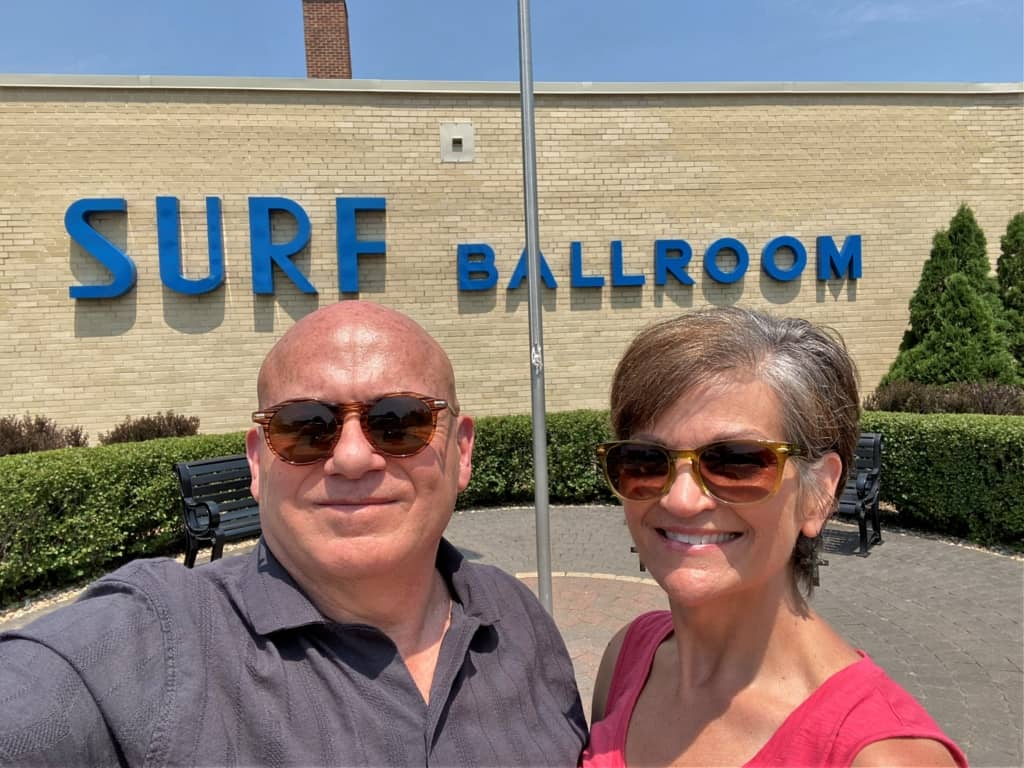 The authors pose for a selfie at the Surf ballroom where Rock 'n Roll saw the end of an era.