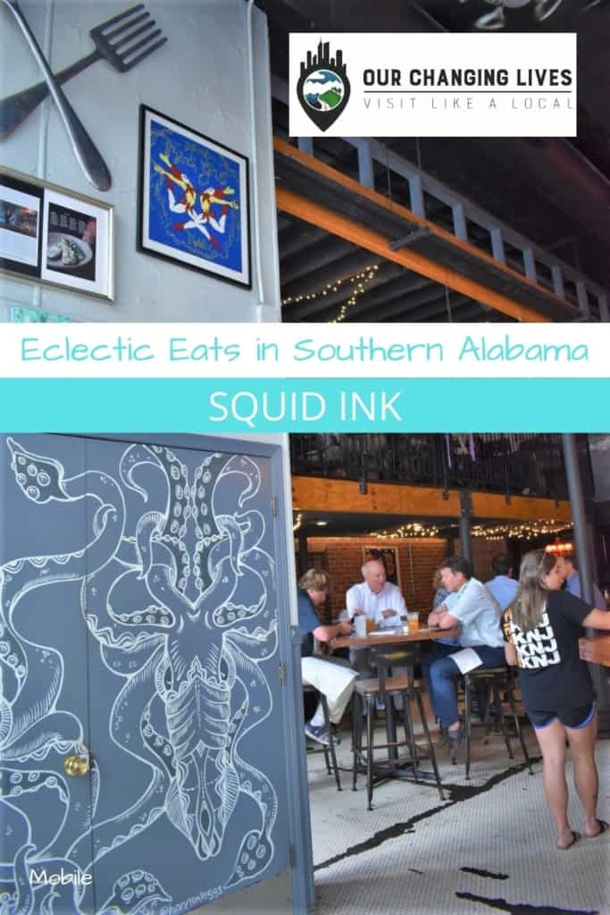 Eclectic eats-Squid Ink-Mobile, Alabama-southern Alabama-Dauphin Street