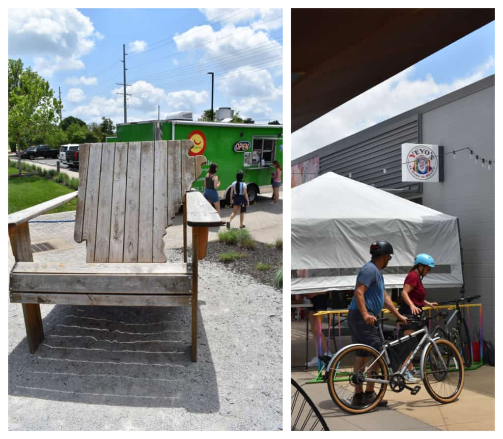 Hikers, bikers, and other travelers visit the 8th Street Market preparing for a cultural chow down.