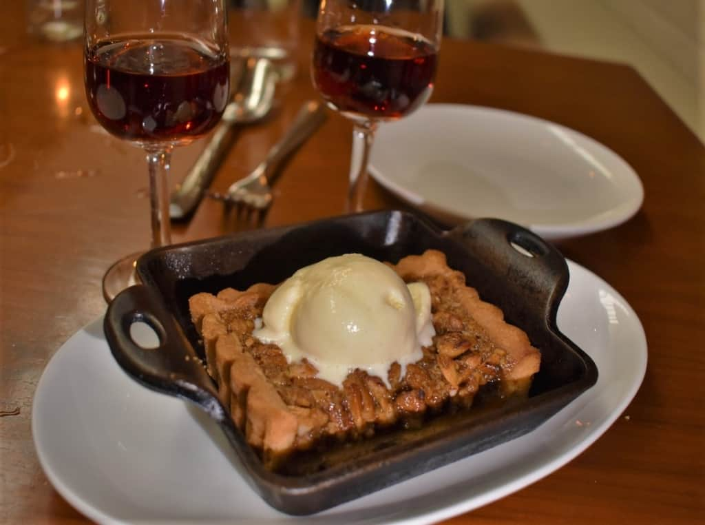 The Pecan Pie is a sweet treat that brings a refined country cuisine spin on a southern dessert.