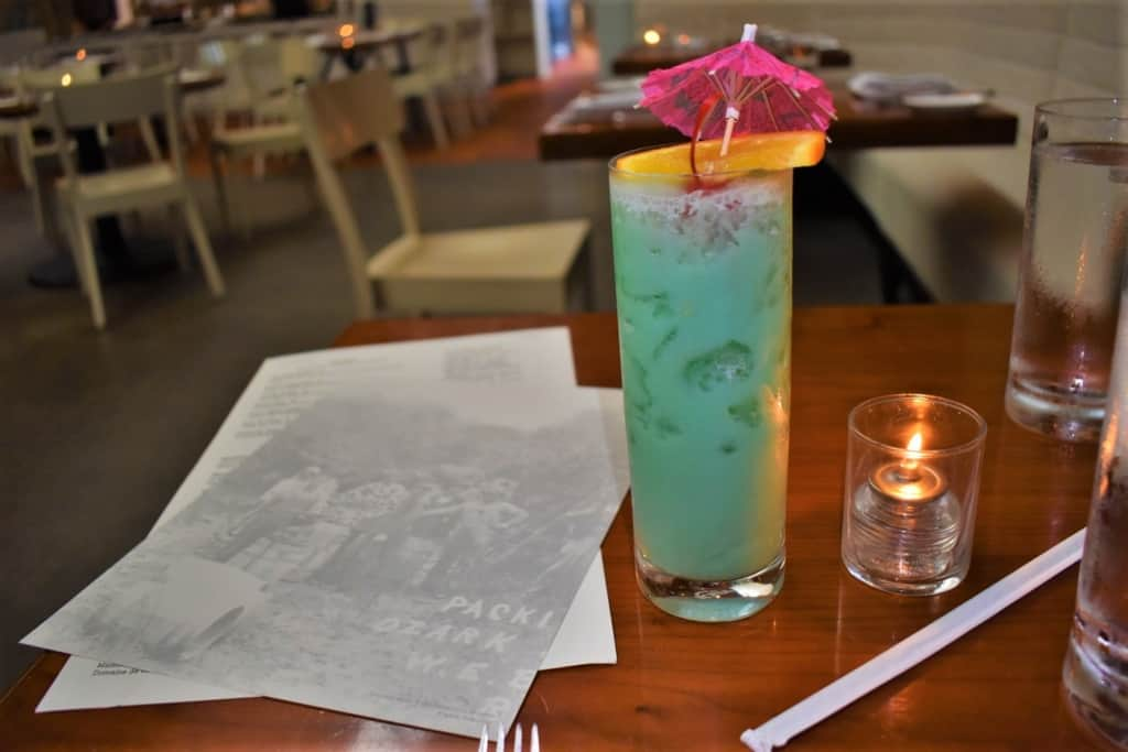If you are looking for a refreshing cocktail, be sure to check out Miami Vice at The Hive in Bentonville.