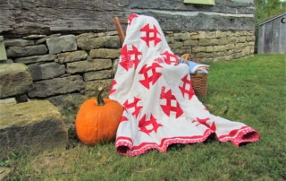 A Fall display welcomes guests to Missouri Town 1855.
