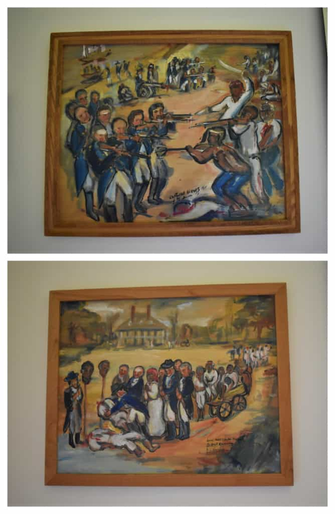 Paintings show the harsh realities of enslaved life.