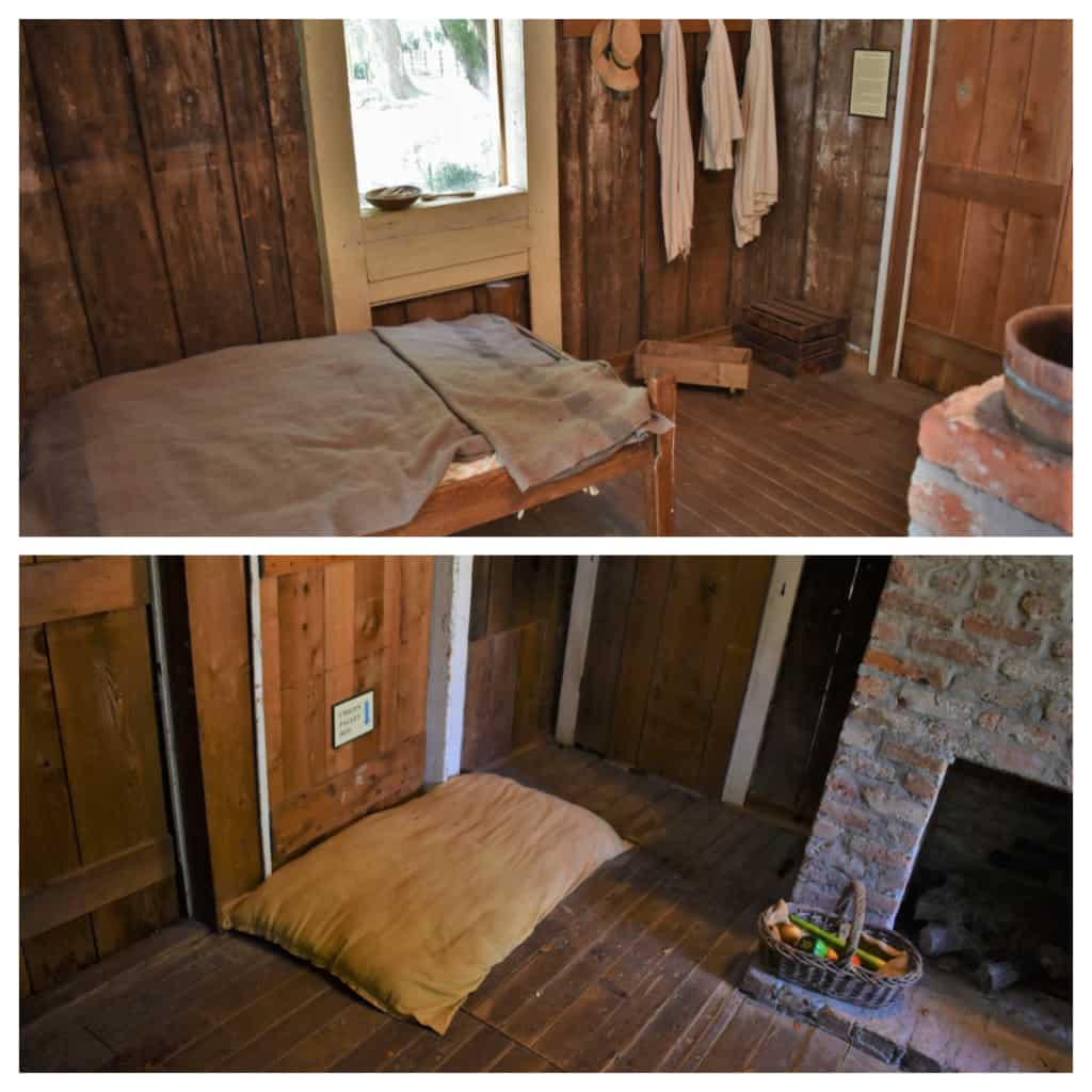 A small cabin would have housed an entire family and helps showcase the realities of enslaved life.