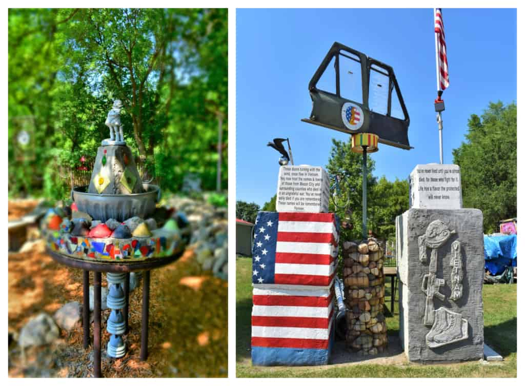 A patriotic exhibit showed the flexibility of the local artist.